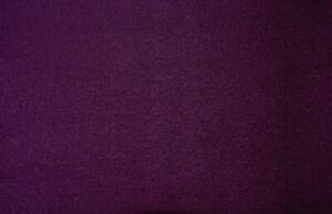 PLUM SOLID  WOOL BLEND  FABRIC  34X58 INCHES  REMNANT
