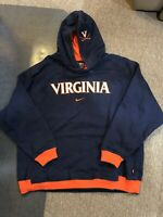 Vintage Nike Virginia Tech hoodie 90s swoosh travis scott center check size xl