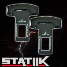 BLACK SEAT BELT BUCKLE SAFETY INSERT ALARM STOPPER NULL ELIMINATOR METAL D