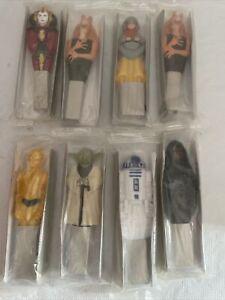 General Mills Star Wars Lightsaber Pen Lot Of 8 Cereal Prize Sealed Yoda Vader