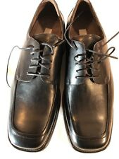 Franco Fortini Mens Shoes Size 13 Black Leather Lace Up Oxford