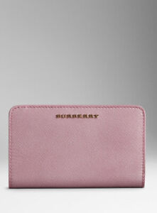 BURBERRY Patent Leather Coral Pink Continental Wallet RRP£355