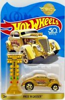 HOT WHEELS 2018  50th ANNIVERSARY PASS'N GASSER GOLD