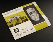 Bull's-Eye Exposure Readings with the Leica Meter MR