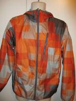COLUMBIA FLEECE LINED ORANGE GRAY PLAID Jacket Coat YOUTH XL 18-20