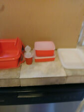 Tupperware Carry Lunch Box with Sandwich, Square Snack and Shaker Containers