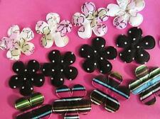 60 Pink/Brown Tone Floral Print Cotton Flower Applique/polka dot/stripes H504