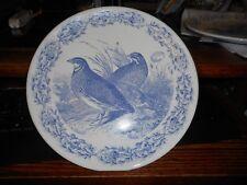 "New Mint Creative Co-Op Birds  11"" Blue  Stoneware Dinner Plate (s)"