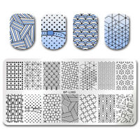 BORN PRETTY Nail Art Stamp Plate  Template Geometrical Figure  BPL-60
