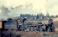 Northern Pacific USRA 2-8-2 steam locomotive #1706 railroad train postcard