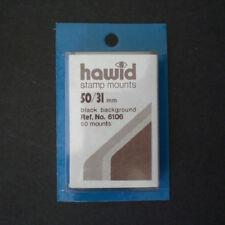 Hawid Stamp Mounts Size 50/31 BLACK Pack of 50