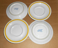 "Set of 4 Saucers - 5 3/4"" with recessed cup area  - Montgomery Ward"