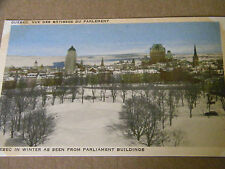 VINTAGE POSTCARD QUEBEC IN WINTER AS SEEN FROM PARLIAMENT BUILDINGS