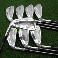 TaylorMade Golf SLDR Irons 4-PW+AW - LEFT HAND - Fuji Graphite Stiff Flex - NEW