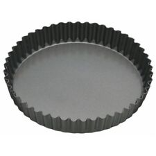 20cm Master Class Non-stick Fluted Loose Base Round Quiche Tin - 8 Nonstick