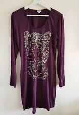 Ladies Heine Purple Tiger Dress Size 14 <EE558