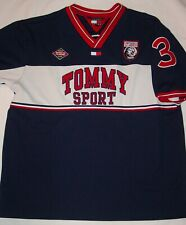 Sweet Vintage Men'S Embroidered / Sewn Tommy Jeans Sport Shirt-Size 2Xl Xxl