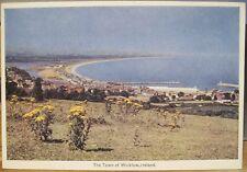 Irish Postcard WICKLOW Town Strand Tansy County Ireland PC DeLuxe Dollard 205