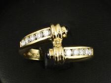 Moderner Brillant Saphir Ring ca. 0,80ct Juwelier Leicht  750/- Gelbgold