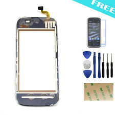 Glass Front Outer Panel Touch Screen Digitizer Black Replacement For Nokia 5230