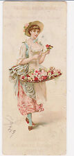 RARE 1800s COLGATE & CO  VICTORIAN TRADE CARD CASHMERE BOUQUET PERFUME - FLOWERS