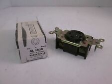 General Electric, GL1520 Single Locking Receptacle, 4W Grounding, New