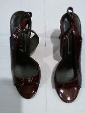 Gina sling backs/used/UK3.5/surface creases/marks/damage to heels & sole shown