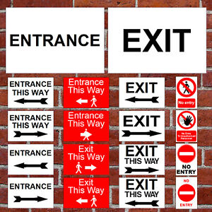 Social Distancing shop rules Entrance Exit No Entry one way directional arrow