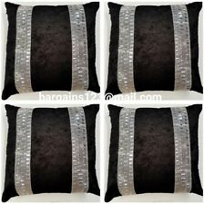 4 x Diamonte crush velvet cushion covers