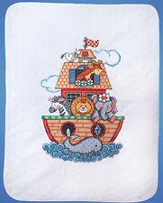 Cross Stitch Kit ~ Tobin Noah's Ark Animal Baby Quilt / Cover #T21716