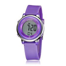 Ohsen Teen Kid Digital Sport Date/day Alarm 5 Model Light Quartz Watch Purple