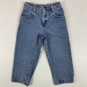 Vintage 90's Baby Guess Jeans Tapered Leg Adjustable Waist 100% Cotton Size 2Y