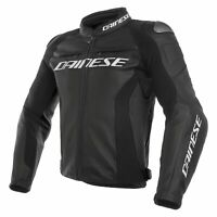 Dainese 1533789-691-56 Racing 3 Perforated Leather Jacket 56, Black