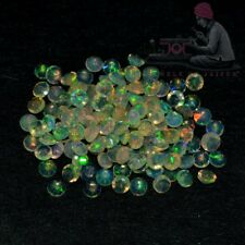 Natural Ethiopian Opal 3mm Round Cut 100 Pieces Top Quality Loose Gemstone Lot K