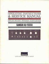 Manuale d'uso amplificatore Sansui AU-555A, lingua inglese