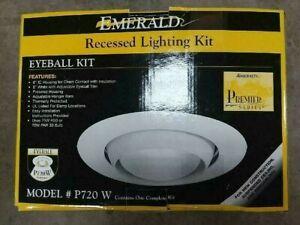 Emerald P720-W Eyeball Recessed Lighting Kit White Brand New!!