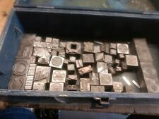 Mixed Old Box Metal Blocks Letterpress Metal