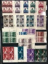 Egypt Palestine / Gaza Complete Set 1954 - 1955 - 1956, #N39-56, SG 69-86 MNH **