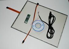 15 Inch 5 Wire Resistive Touch Screen Panel Kit USB USA  FAST SHIPPING
