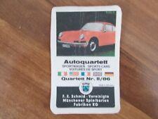 Quartett Auto Sportwagen von 1969 F.X.Schmidt aus Sammlung