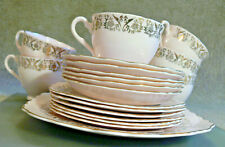 More details for colclough china pink and gold tea set