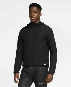 Nike AeroLoft Reflective Lightweight Running Repel Jacket CU5388-010 Black Sz L