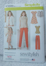 Simplicity K1699 Ladies Sewing Pattern Dress Jacket Trousers US Sizes 8-16 Uncut
