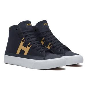 """HUF """"Hupper 2 Hi"""" Sneakers (Black/Mustard) Men's Skating High Top Shoes"""