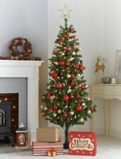 NEW CHRISTMAS GREEN 6 FOOT TALL TREE APPROXIMATELY 410 TIPS HANGING SPACES
