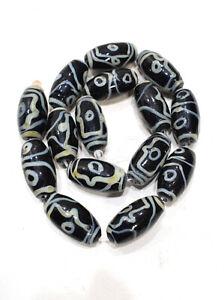 Beads Chinese Black White Glass Beads 26-27mm
