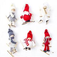 Bambole di stoffa di sci Ornamenti di Natale Decorazioni per la tavola Bambo WQC