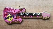 HARD ROCK CAFE HONG KONG HAPPY BIRTHDAY GUITAR PIN