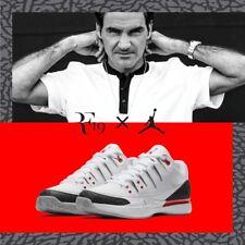 Roger Federer Nike Air Jordan Zoom Vapor RF X AJ3 Fire Red III 3 White Mens Sz 8