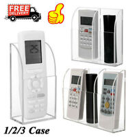1/2/3 Case Clear Acrylic Remote Control Organizer Storage Box Holder Wall Mount